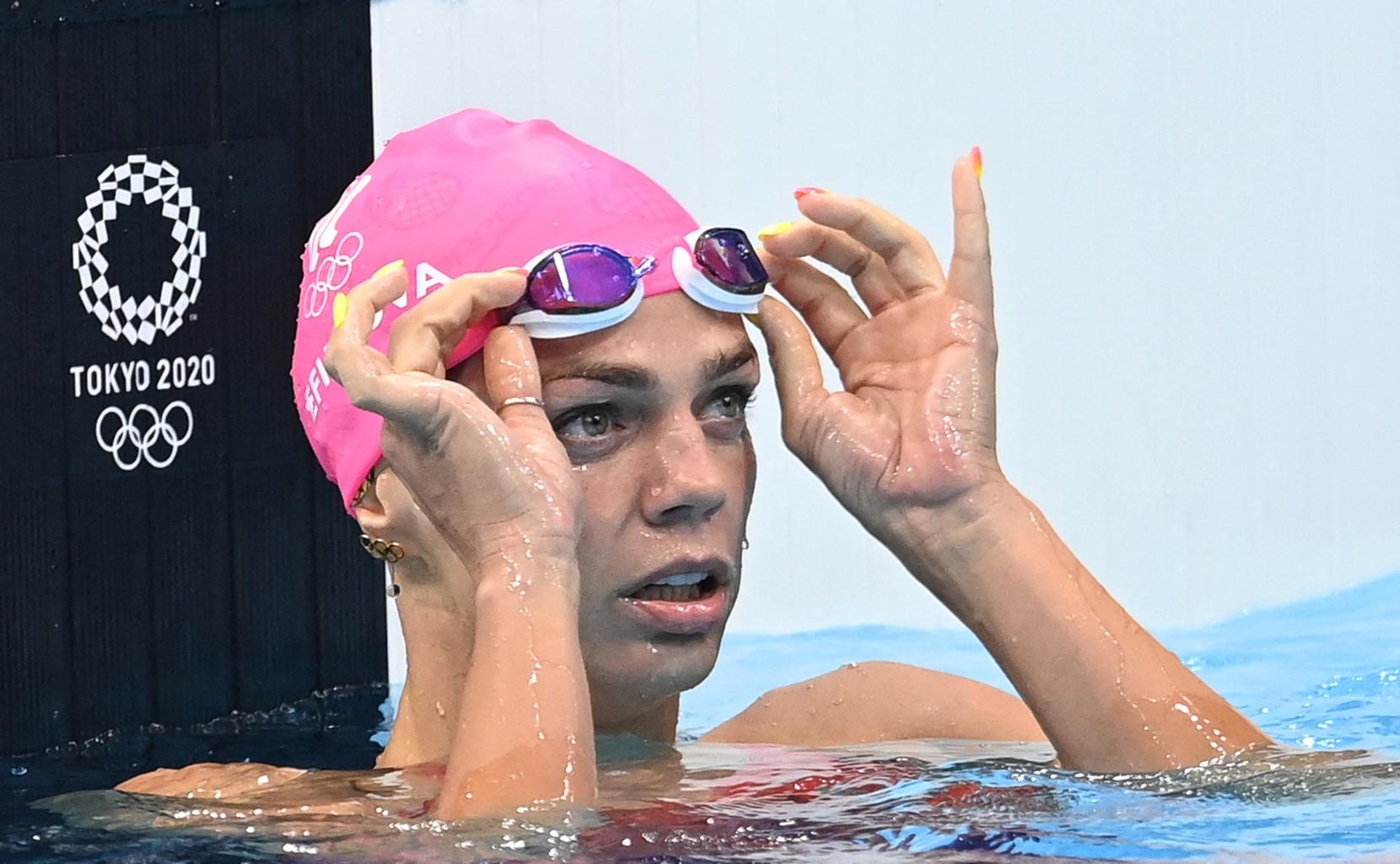 Julija Jefimova a tokiói olimpián a női 100 méteres mellúszás elődöntőjében 2021. július 27-én #moszkvater