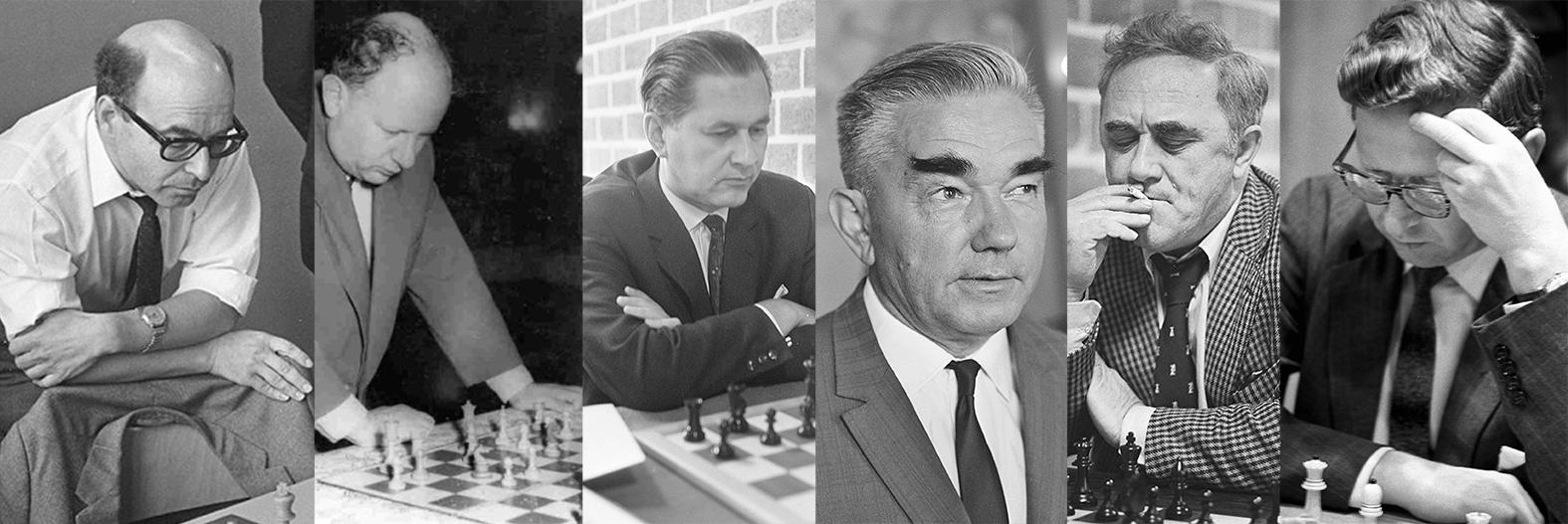 A Helsinki sakkolimpián nyertes szovjet válogatott sakkozói balról jobbra: David Bronstejn, Iszaak Boleszlavszkij, Paul Keres, Alekszander Kotov, Jefim Geller és Vaszilij Szmiszlov #moszkvater