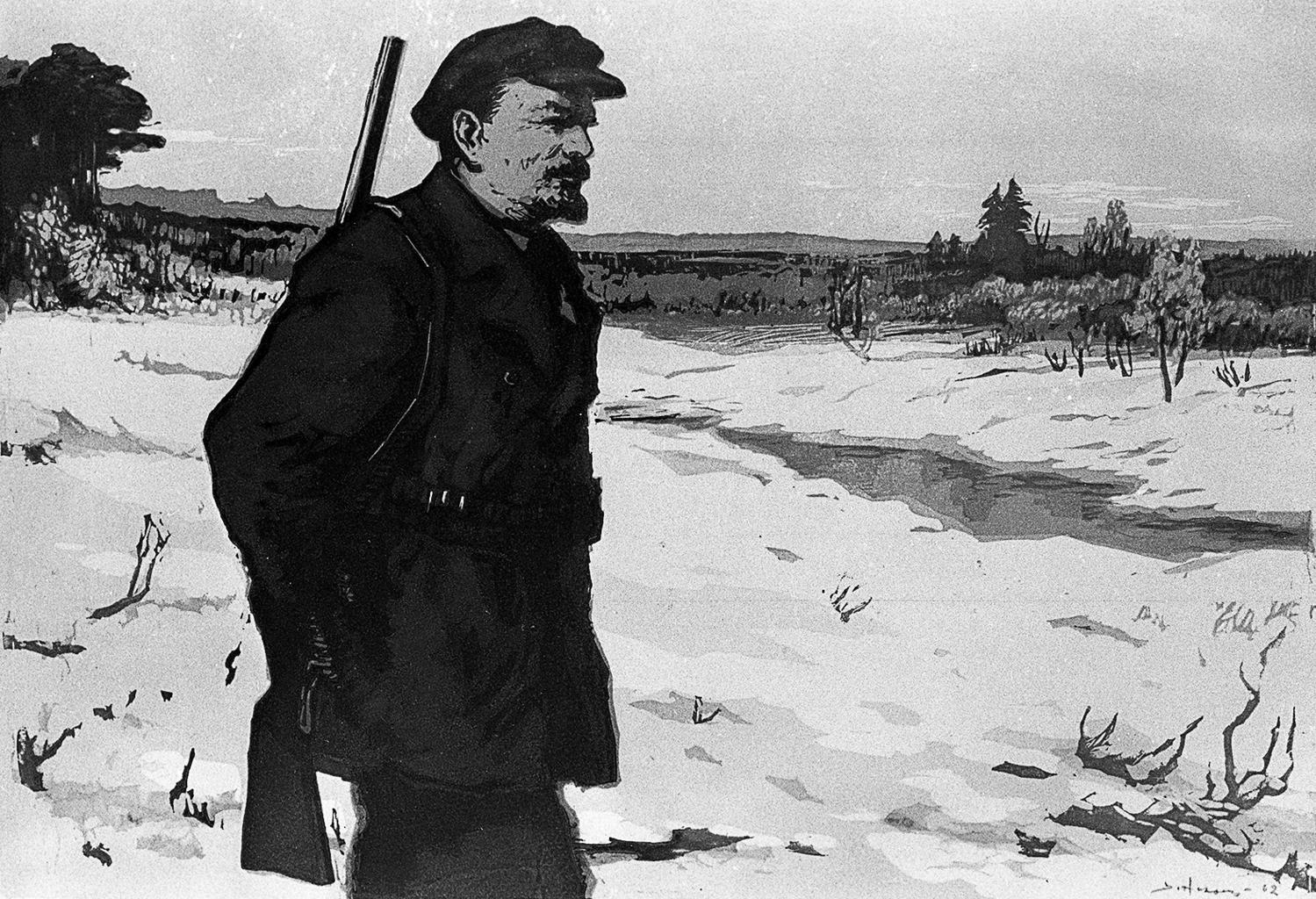 """""""Lenin korábban is szeretett vadászni"""" V. Nikolsky festménye #moszkvater"""