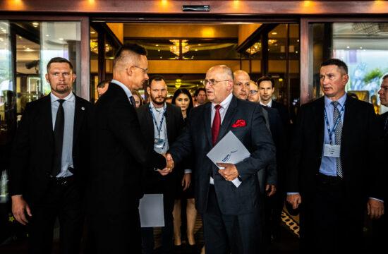 Szijjártó Péter és Zbigniew Rau külügyminiszterek találkozása Karpaczban 2021. szeptember 7-én #moszkvater