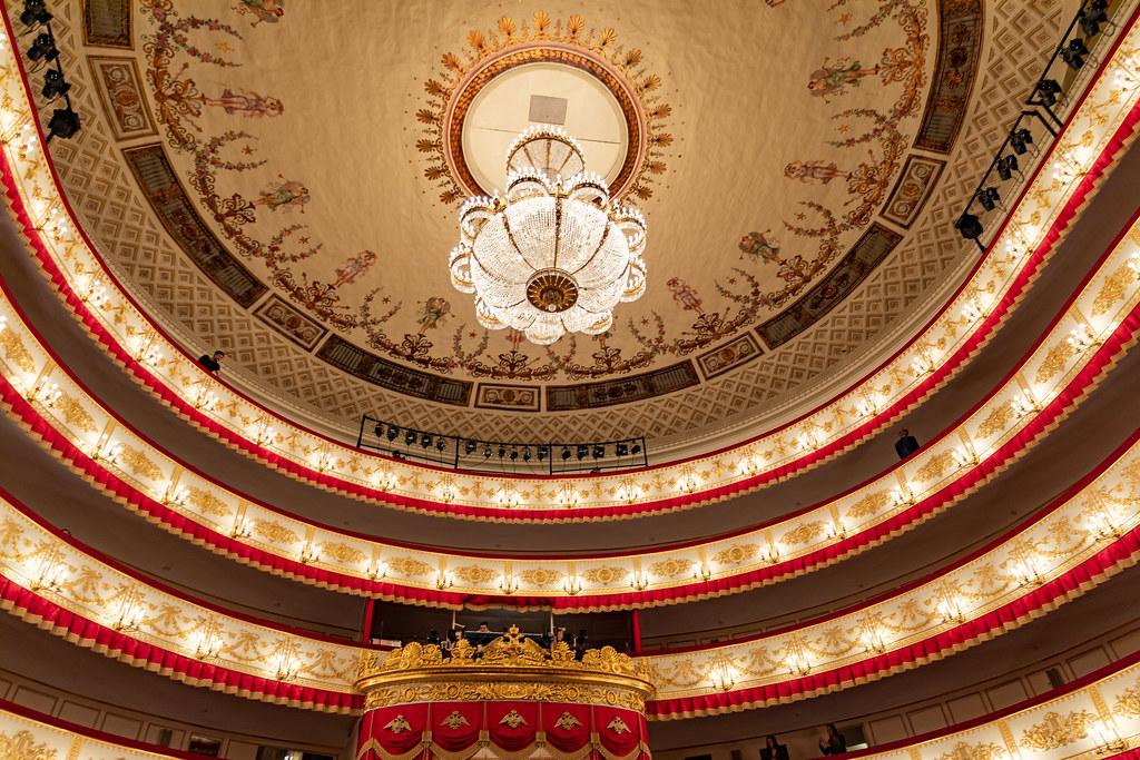 """""""A színház belső terei gyakorlatilag megőrizték az eredeti díszítést"""" #moszkvater"""