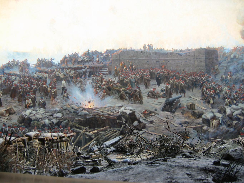 A szevasztopoli csata Franz Roubaud festményén #moszkvater