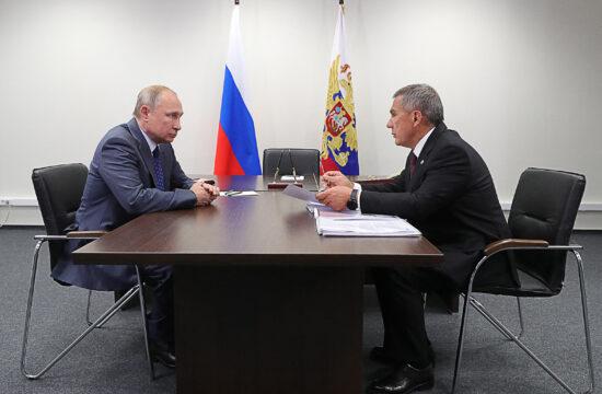 Vlagyimir Putyin és Rusztam Minnyihanov találkozója 2019-ben Moszkvában #moszkvater