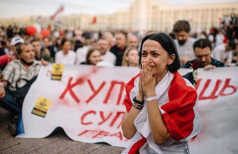 Krisztina Drobis egy tüntetésen #moszkvater