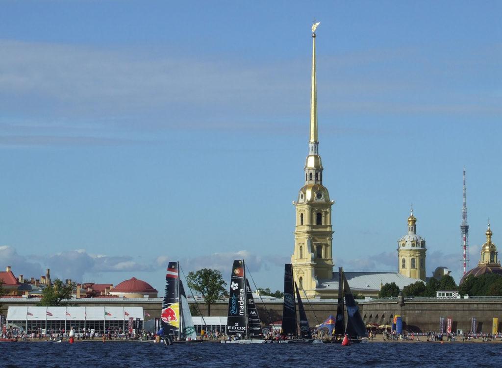 Péter-Pál erőd a székesegyház arany tűjével. #moszkvater