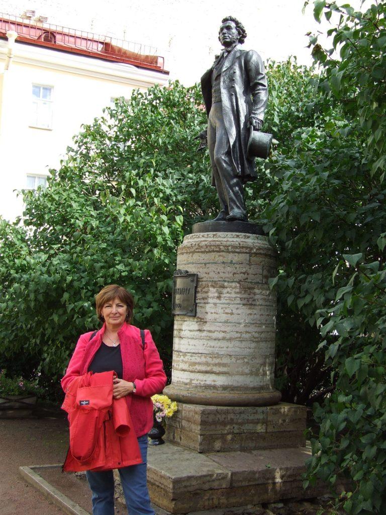 Puskin szobránál #moszkvater