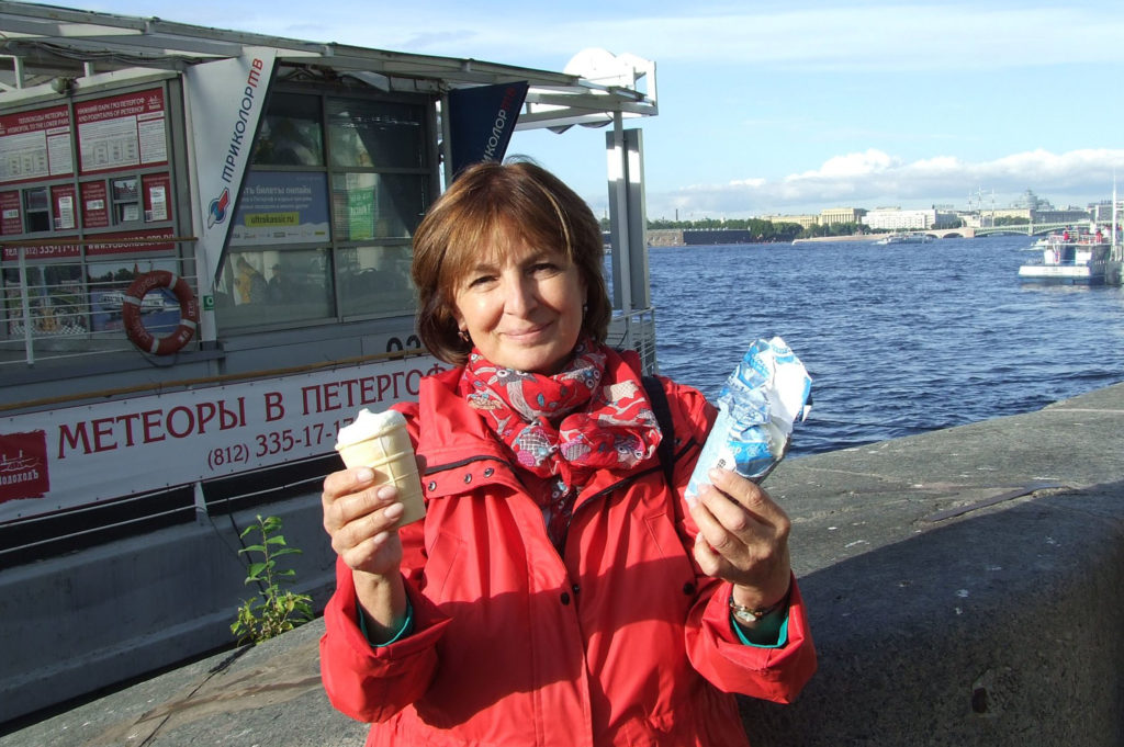 Megtaláltam az igazi orosz fagyit, látszik, hogy mennyire örülök! #moszkvater