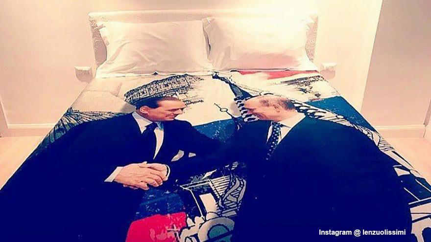 A Berlusconitól a tavalyi születésnapra kapott ágytakaró #moszkvater