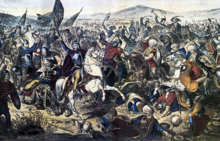Az 1389-es rigómezei csata Adam Stefanović 1870-es festményén #moszkvater