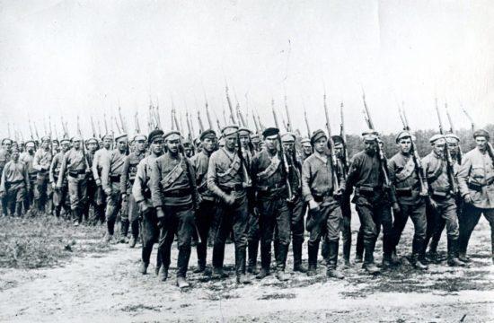 A Vörös hadsereg egyik első zászlóalja 1918-ban #moszkvater