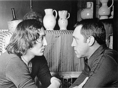 Viszockij Semjakin párizsi műtermében 1977-ben Fotó:Pierre Bernard #moszkvater