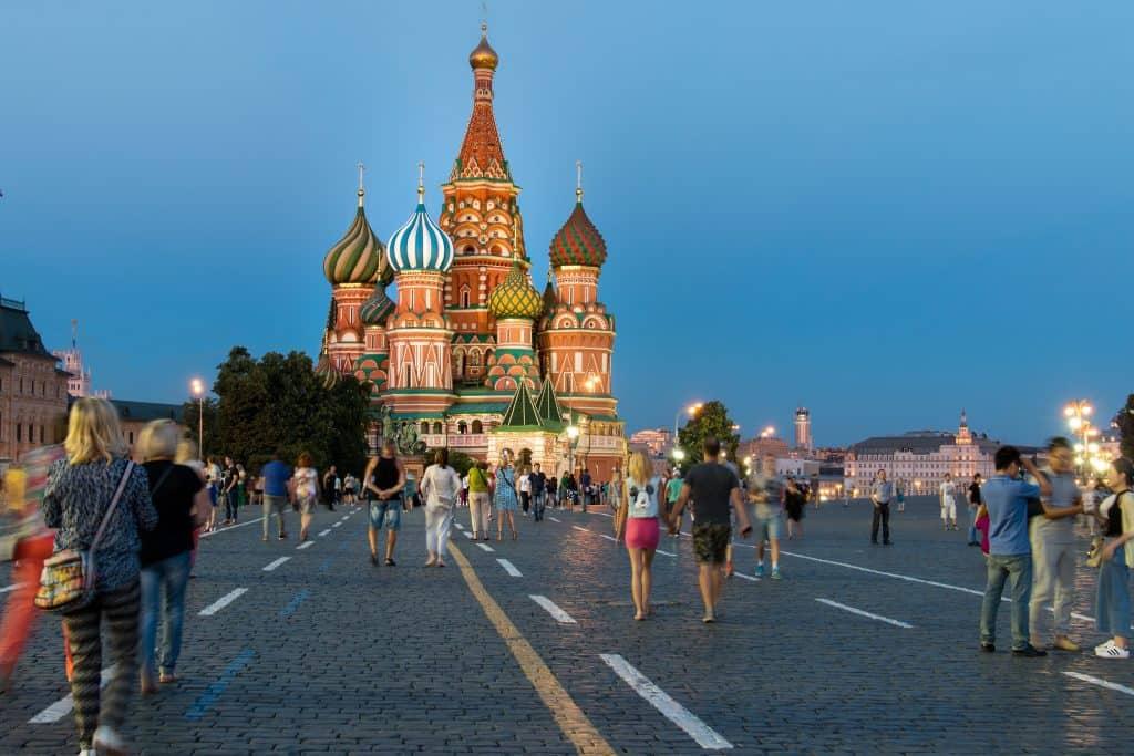 A Vörös-téren mindig rengeteg a turista