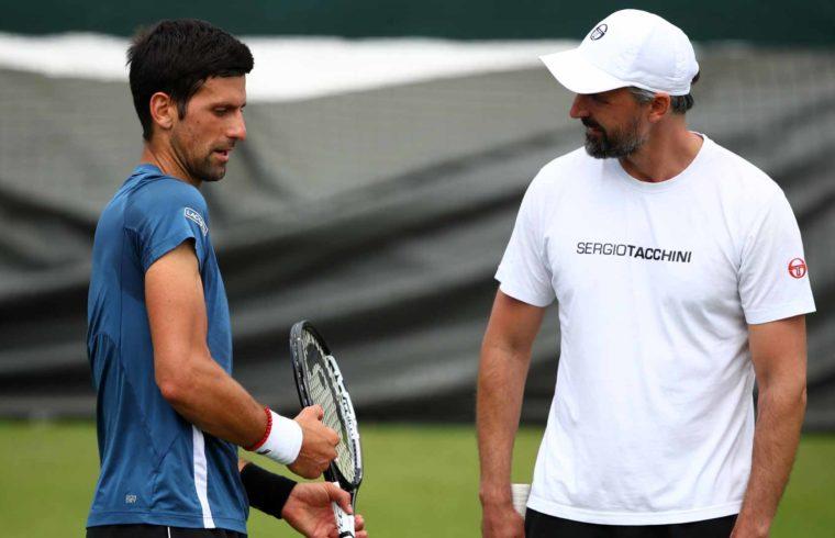 Djokivic és Ivanisevic edzése Wimbledonban 2019. június 30-án #moszkvater