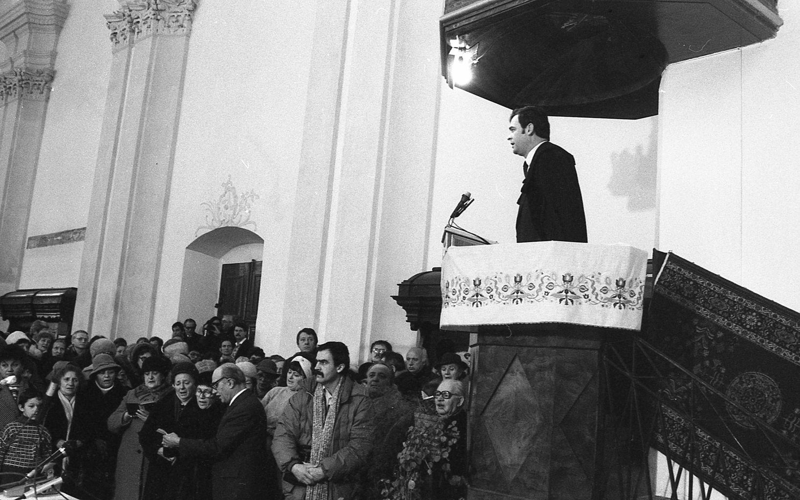 Tőkés László református lelkész igehirdetése 1990-ben Marosvásárhelyen #moszkvater