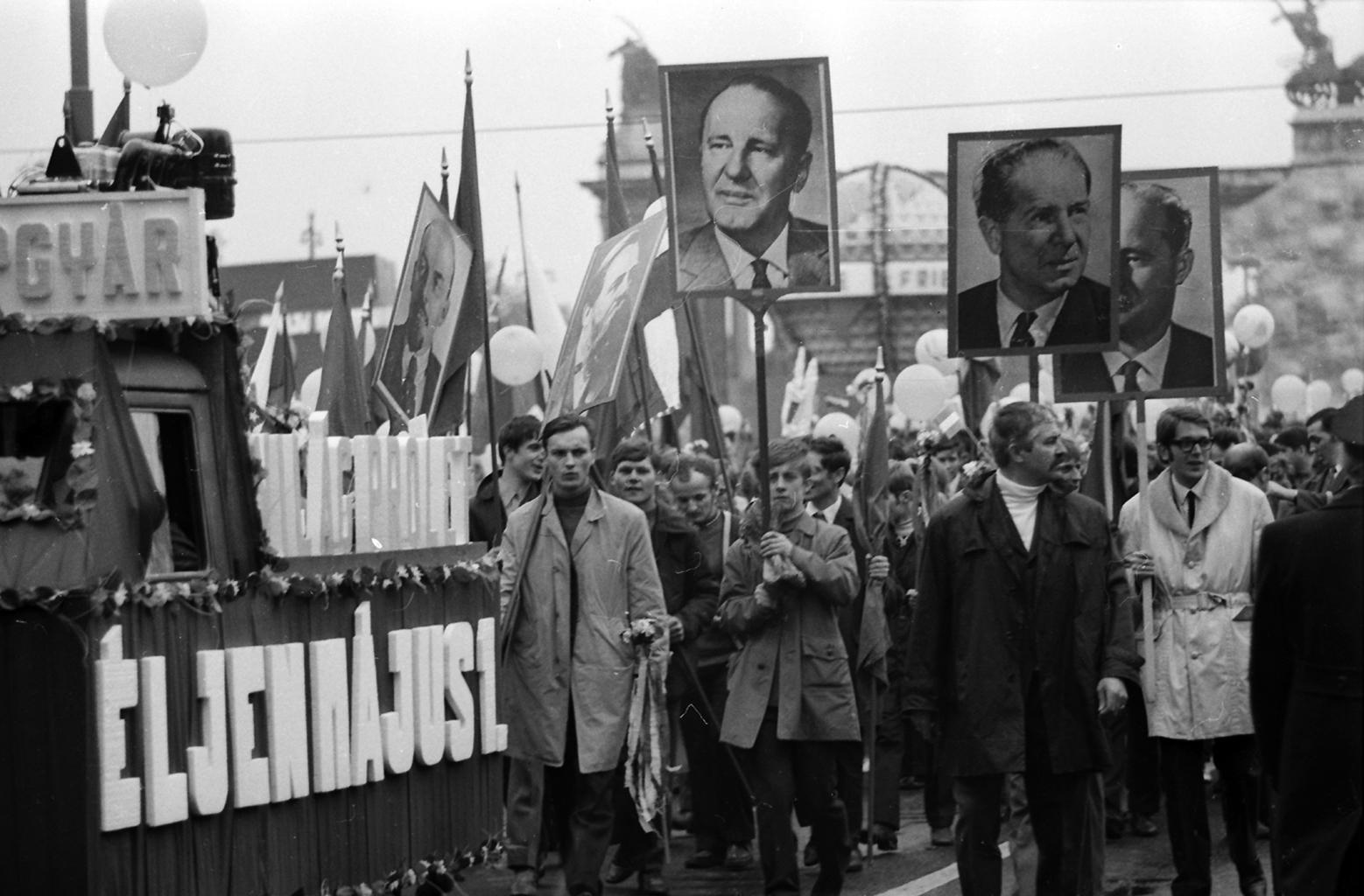 Május 1-jei felvonulá Budapesten 1978-ban a Felvonulási téren #moszkvater