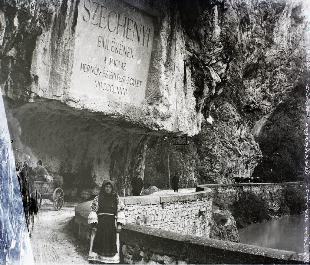 Duna, a Vaskapu-szoros, Széchenyi-út, gróf Széchenyi István emléktáblája 1904-ben #moszkvater