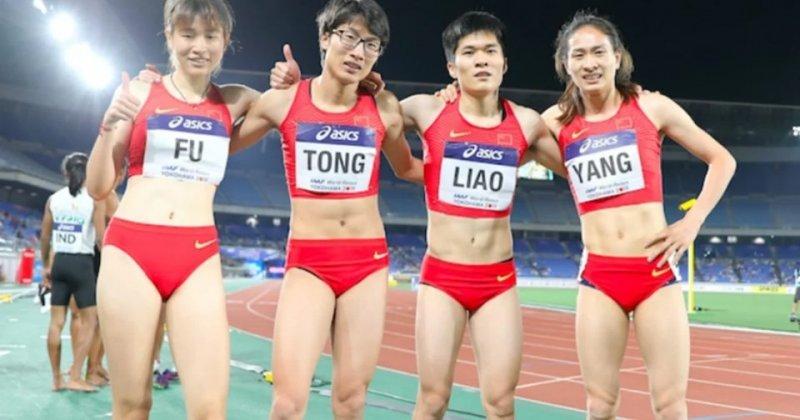 A kínai 4x400 méteres női atlétaváltó #moszkvater