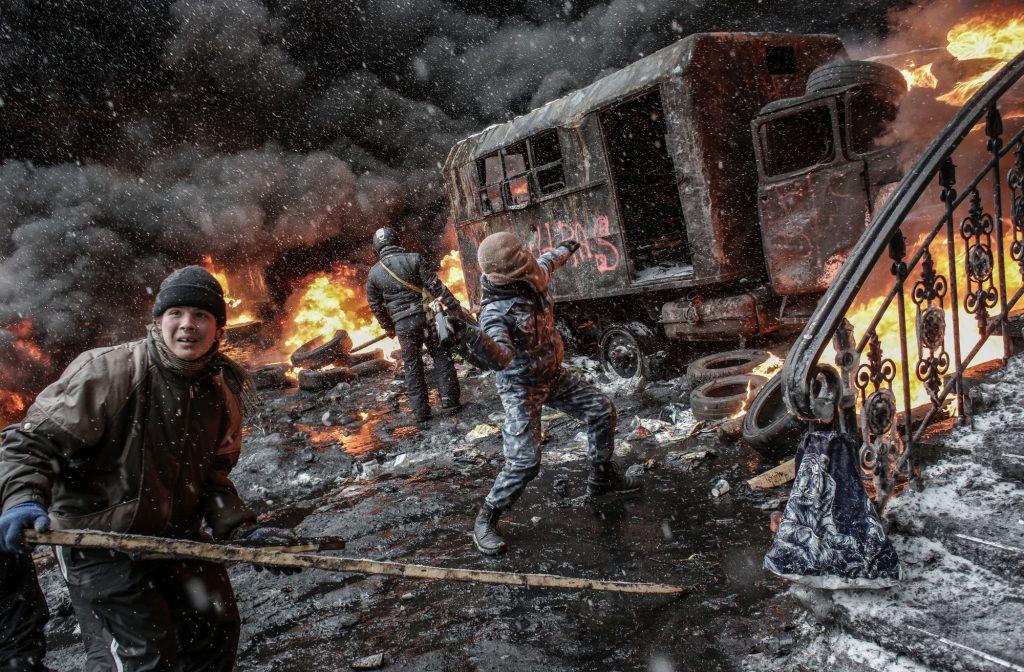 Tüntetők a Maidanon Kijevben 204. január 22-én #moszkvater
