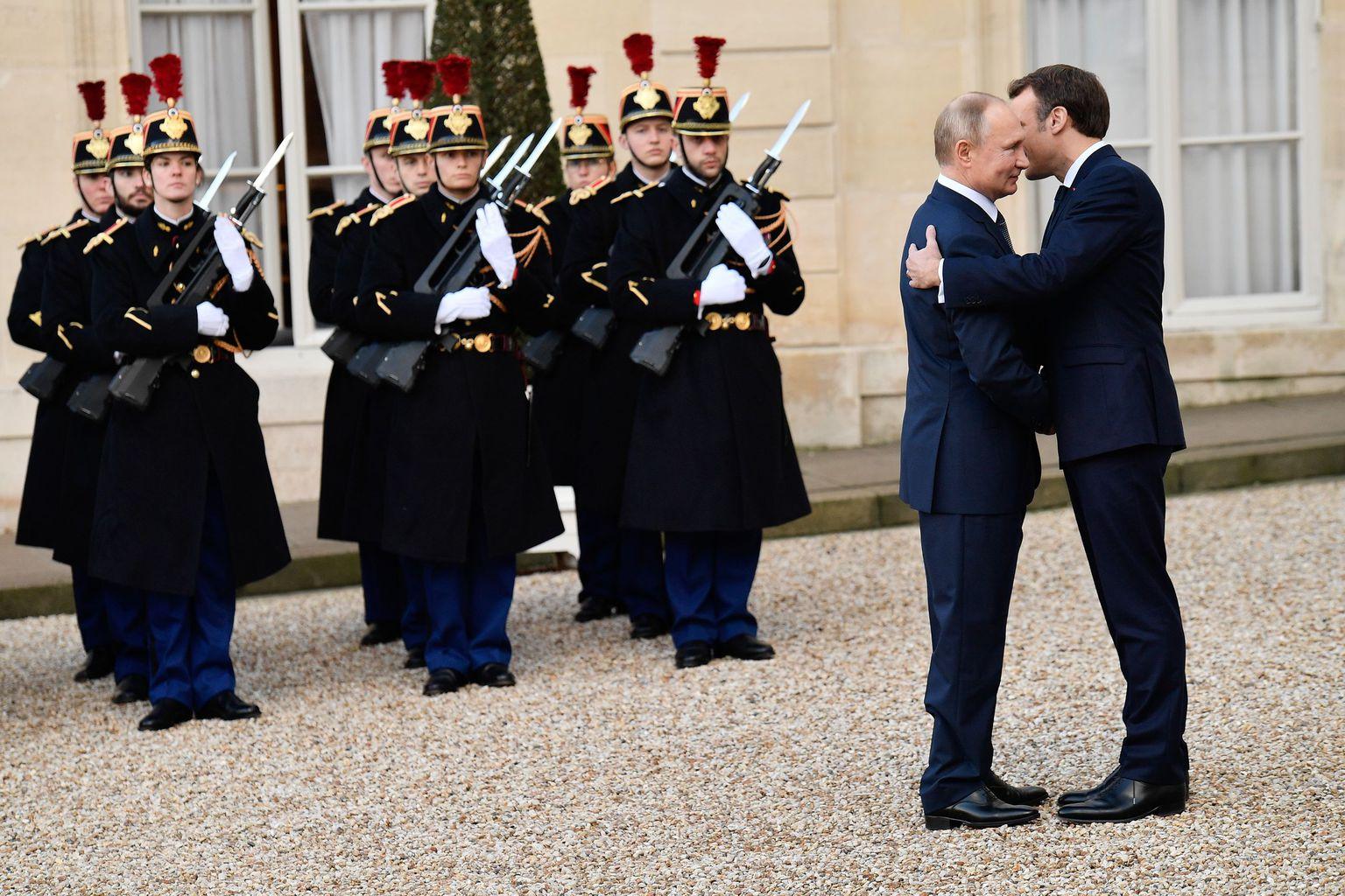 Vlagyimir Putyin és Emmanuel Macron 2019. decemberi találkozójukon Párizsban #moszkvater