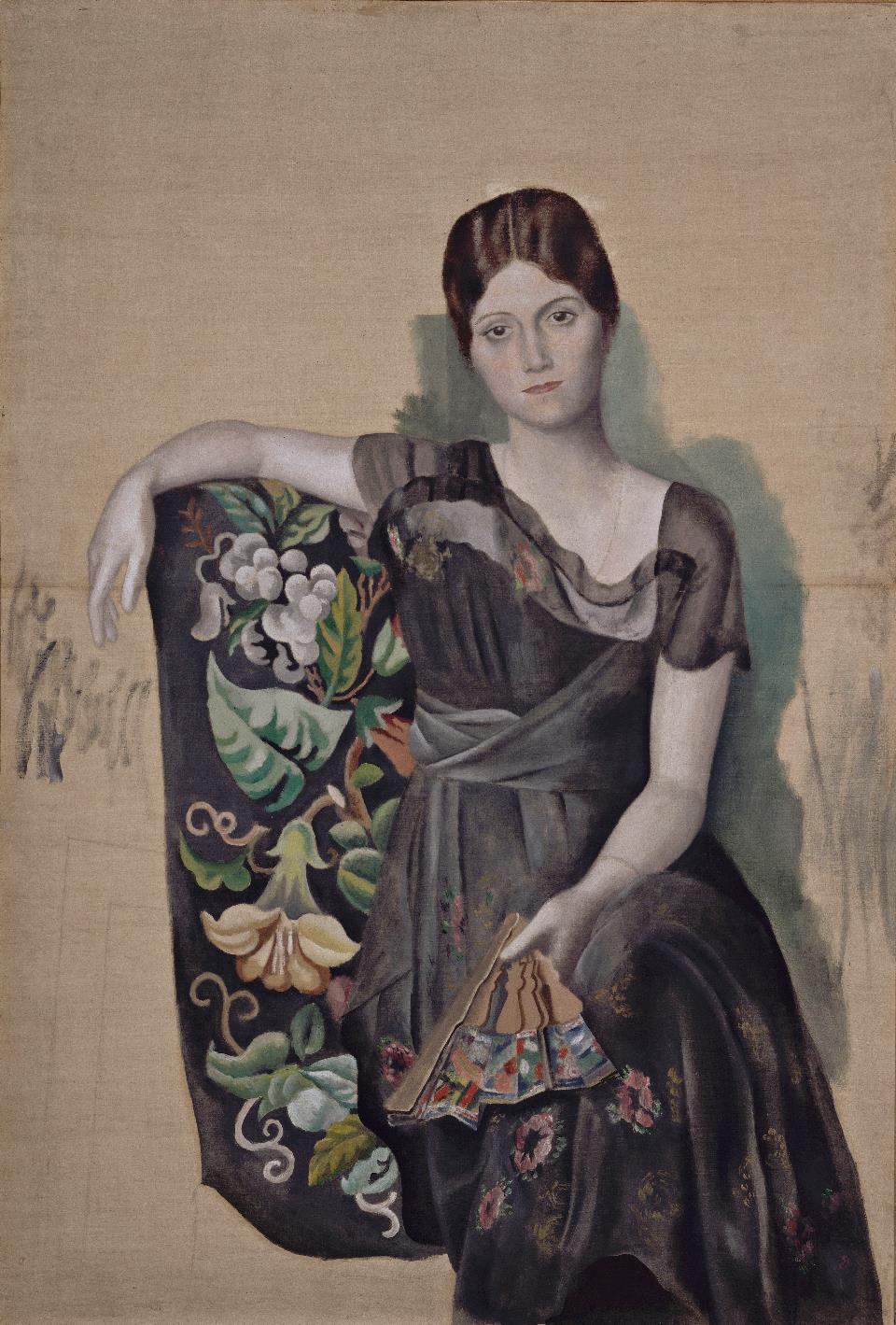 """Pablo Picasso –""""Olga arcképe a székben"""" (1917) #moszkvater"""