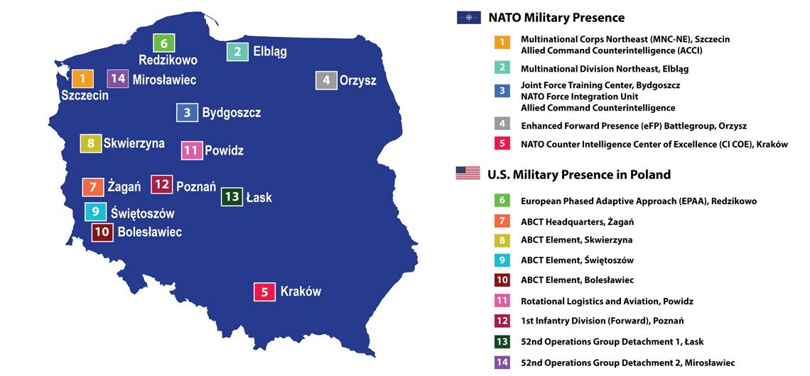 Az amerikai és NATO bázisok elhelyezkedése Lengyelország területén #moszkvater