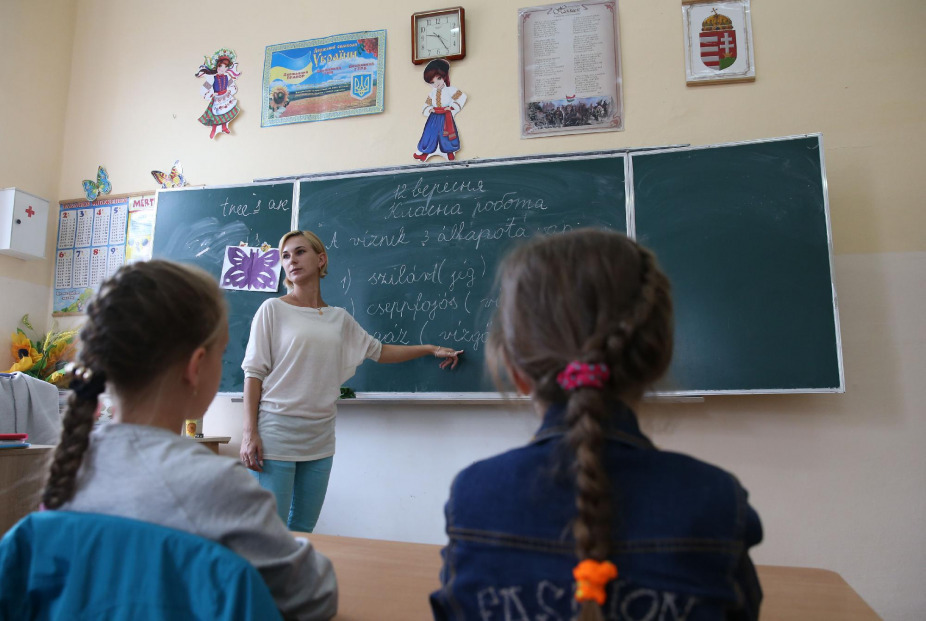 Becsengettek. Tanóra a kárpátaljai Nagyszőlős iskolájában 2017. szeptember 12-én #moszkvater